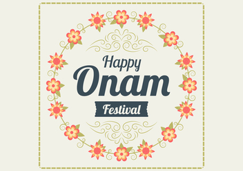 Floral Onam Background Vector - Free vector #432713