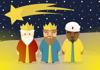 Epiphany Kings Magic Illustration Vector - Free vector #432723