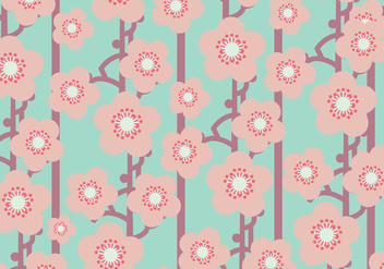 Flat Peach Blossom Pattern - Free vector #432763