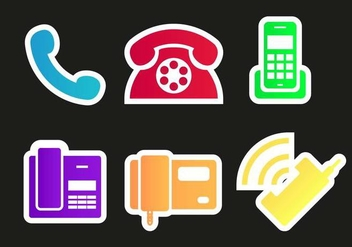 Tel Phones Icons Vector - vector gratuit #432773