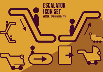 Escalator Icons - Free vector #432783