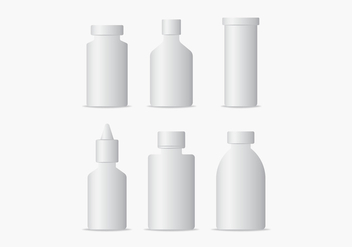 Medical Bottles Packaging Vectors - бесплатный vector #432803
