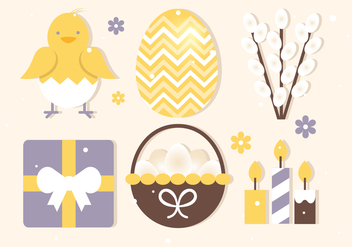 Free Easter Elements Collection - Kostenloses vector #432823