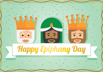 Three Wisemen For Epiphany Day - Free vector #432853