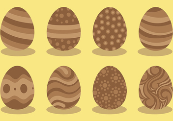 Free Chocolate Easter Eggs Icons Vector - бесплатный vector #432873