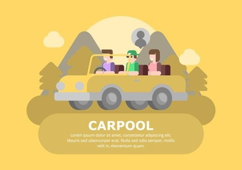 Carpool Background - vector #433013 gratis