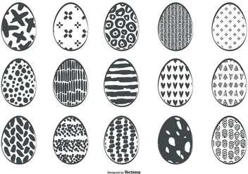 Cute Sketchy Easter Egg Collection - Free vector #433023