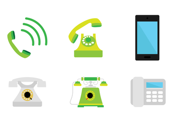 Green Telephone Icon - vector #433033 gratis