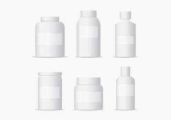 Medical Bottles Packaging Vectors - бесплатный vector #433043
