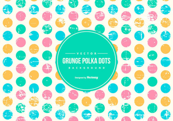 Grunge Polka Dot Background - Free vector #433053