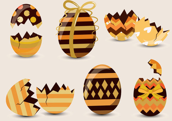 Chocolate Easter Egg Pattern Vector - Free vector #433063