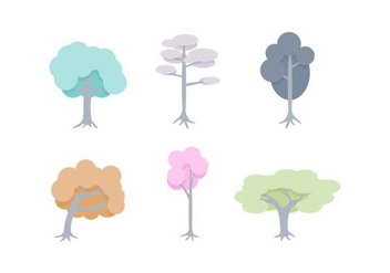 Free Unique Tree with Roots Vectors - vector gratuit #433073