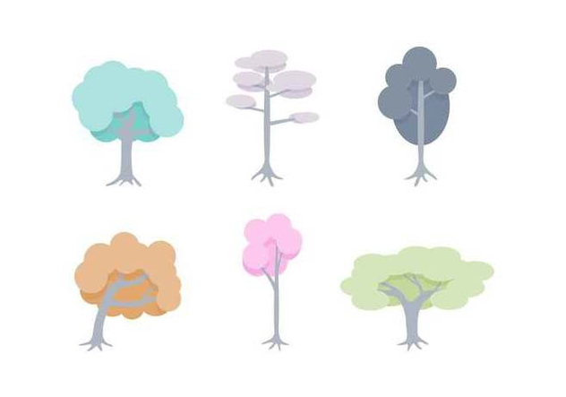 Free Unique Tree with Roots Vectors - Free vector #433073