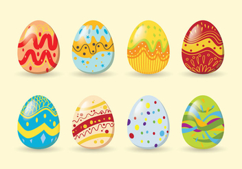 Colorful easter eggs - Free vector #433173