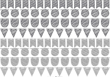 Sketchy Bunting Banner Collection - Kostenloses vector #433203