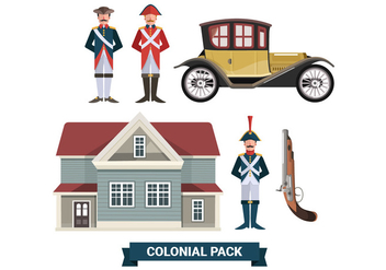 Colonial Pack Vector Collections - vector #433283 gratis