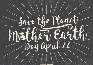Typographic Earth Day Illustration - vector gratuit #433333