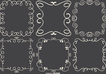 Cute Doodle Frames Collection - vector #433363 gratis