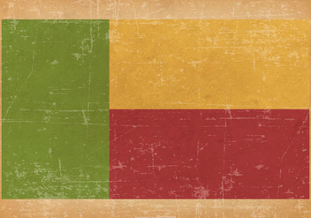 Flag of Benin on Grunge Background - бесплатный vector #433373