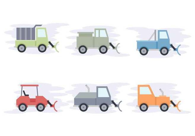 Free Snow Plow Vectors - бесплатный vector #433413