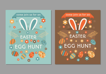 Retro Easter Egg Hunt Poster - vector gratuit #433433