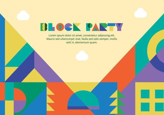 Block Party Background Vector - vector #433493 gratis
