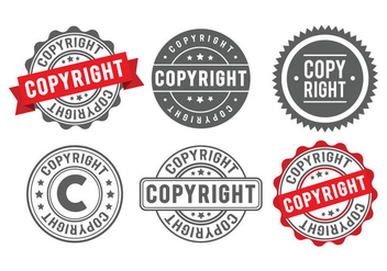 Copyright Stamp Badge - Kostenloses vector #433553