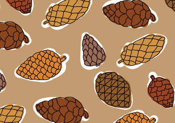 Brown Palette Pine Cones Pattern - Free vector #433563