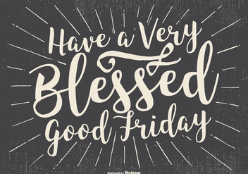Typographic Good Friday Illustration - Free vector #433593