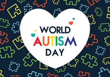 Autism Day Poster - Free vector #433603