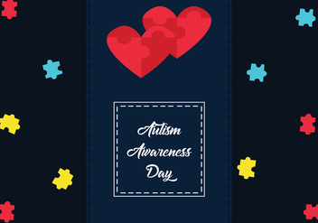 Autism Awareness Day Vector Art - vector #433633 gratis