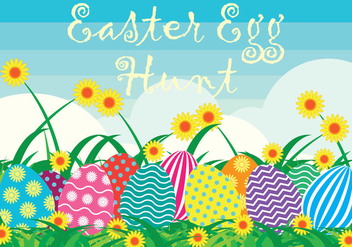 Easter Egg Hunt Background - vector gratuit #433653