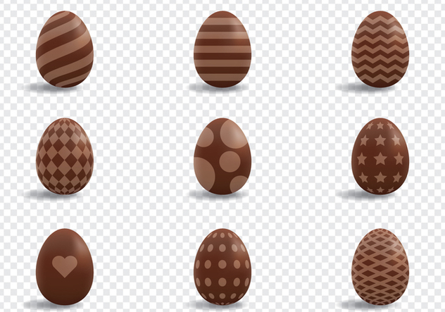 Chocolate Eggs Decoration - Free vector #433663