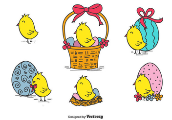 Easter Chick Vector - vector gratuit #433673