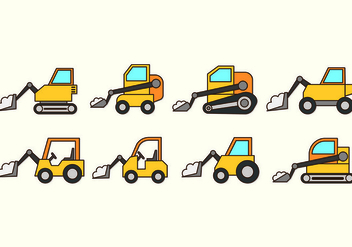 Set Of Snow Blower Icons - vector #433703 gratis