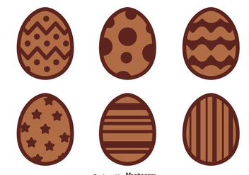 Nice Chocolate Easter Eggs Vectors - Free vector #433763