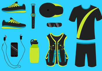 Running Equipment Free Vector - vector gratuit #433783