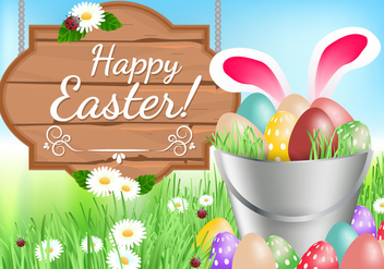 Happy Easter Background - vector #433843 gratis