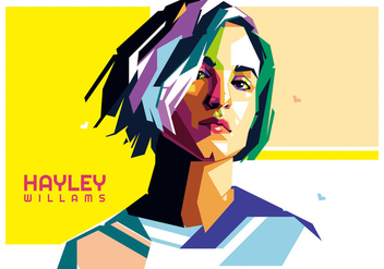 Hayley williams vector WPAP - бесплатный vector #433853