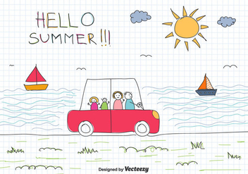 Family Vacation Vector Background - Free vector #433873