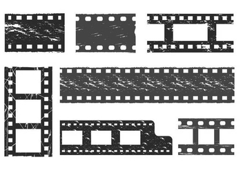 Film grain vector set - vector gratuit #433893