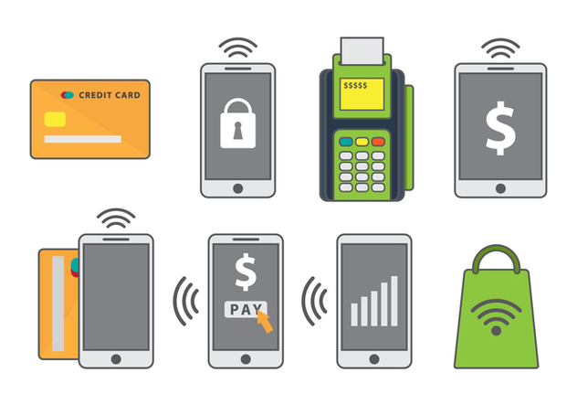 Free Mobile Payment Vector Icons - Kostenloses vector #433903