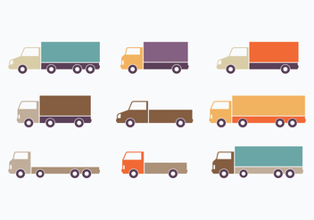 Colorful Flat Style Moving Van Collection - vector gratuit #433913
