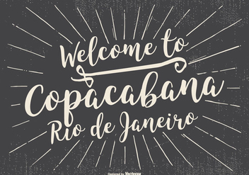 Welcome to Copacabana Retro Typographic Illustration - бесплатный vector #433943