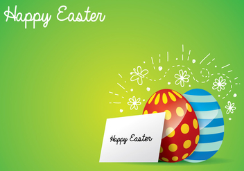 Easter Egg Background - vector #433953 gratis