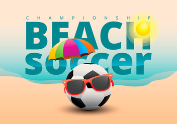 Beach Soccer Illustration - Free vector #433993