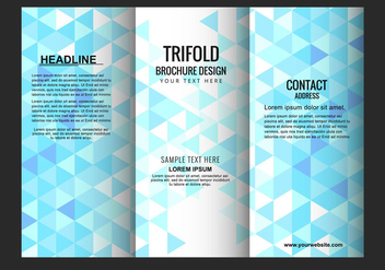 Free Vector Trifold Brochure Template - Free vector #434083