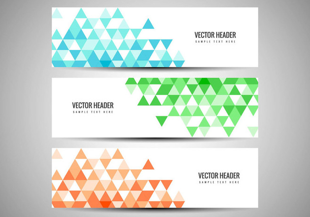 Free Vector Colorful Banners Set - Free vector #434093