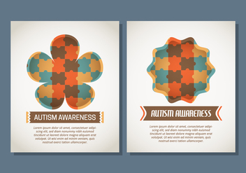 Autism Poster Template - Free vector #434133