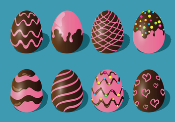 Chocolate Easter Eggs Set - vector gratuit #434163